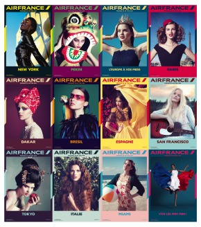 Affiches internationales AirFrance