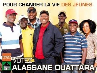 Affiche de campagne avec la jeunesse