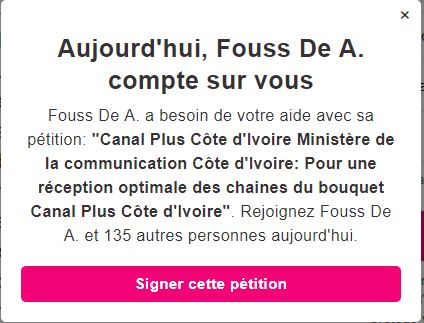 Capture petition canal